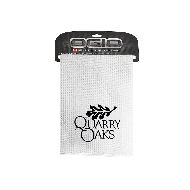 e24e2a8b847 OGIO Golf Towel – White – Quarry Oaks Shop